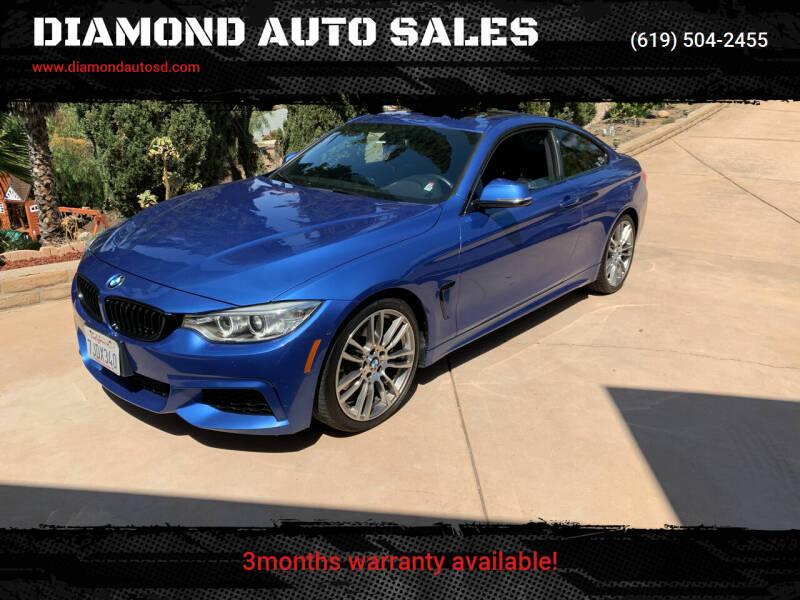 2015 BMW 4 Series for sale at DIAMOND AUTO SALES in El Cajon CA