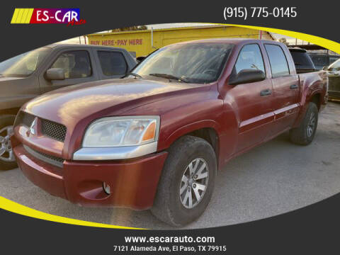 2008 Mitsubishi Raider for sale at Escar Auto in El Paso TX