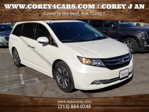 2017 Honda Odyssey for sale at WWW.COREY4CARS.COM / COREY J AN in Los Angeles CA