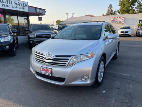 2010 Toyota Venza for sale at Adams Auto Sales in Sacramento CA