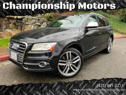 2014 Audi SQ5 for sale at Mudarri Motorsports - Championship Motors in Redmond WA