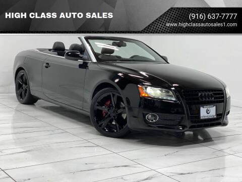 2011 Audi A5 for sale at HIGH CLASS AUTO SALES in Rancho Cordova CA
