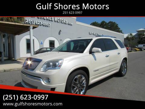 2012 GMC Acadia for sale at Gulf Shores Motors in Gulf Shores AL