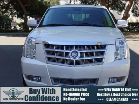 2012 Cadillac Escalade ESV for sale at ASAL AUTOSPORTS in Corona CA