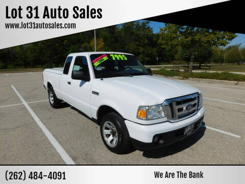 2010 Ford Ranger for sale at Lot 31 Auto Sales in Kenosha WI