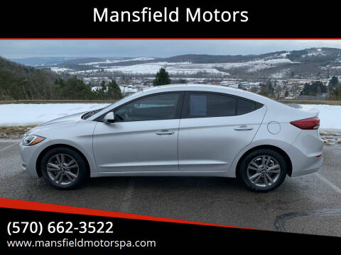 2018 Hyundai Elantra for sale at Mansfield Motors in Mansfield PA