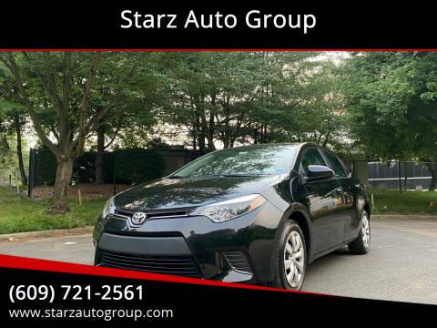 2016 Toyota Corolla for sale at Starz Auto Group in Delran NJ