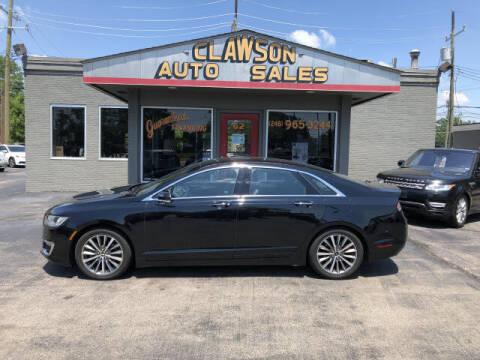2018 Lincoln MKZ for sale at Clawson Auto Sales in Clawson MI