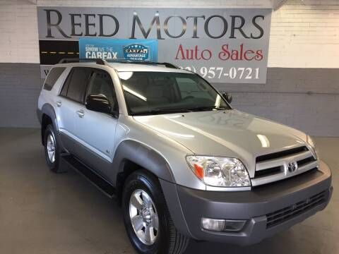 2003 Toyota 4Runner for sale at REED MOTORS LLC in Phoenix AZ