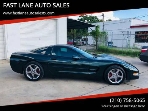 2001 Chevrolet Corvette for sale at FAST LANE AUTO SALES in San Antonio TX