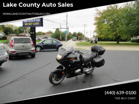 1999 BMW 1100 RT TOURING for sale at Lake County Auto Sales in Painesville OH