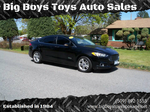 2016 Ford Fusion Energi for sale at Big Boys Toys Auto Sales in Spokane Valley WA
