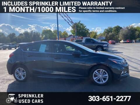 2017 Chevrolet Cruze for sale at Sprinkler Used Cars in Longmont CO