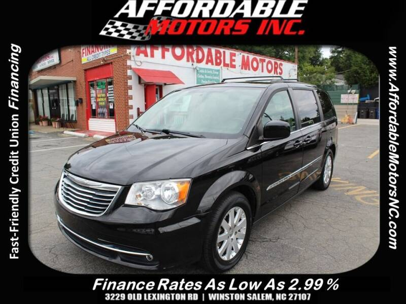 2016 Chrysler Town and Country for sale at AFFORDABLE MOTORS INC in Winston Salem NC