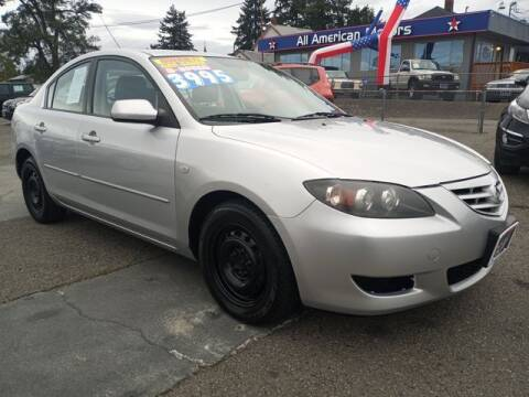 2004 Mazda MAZDA3 for sale at All American Motors in Tacoma WA
