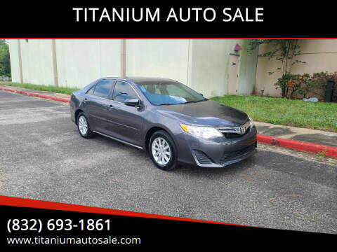 2013 Toyota Camry for sale at TITANIUM AUTO SALE in Houston TX