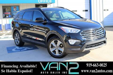 2016 Hyundai Santa Fe for sale at Van 2 Auto Sales Inc in Siler City NC
