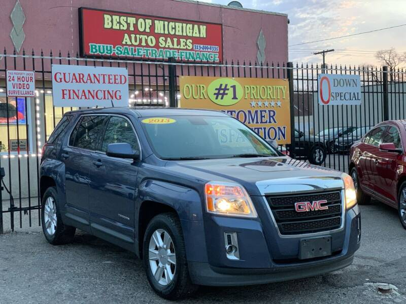 2013 GMC Terrain for sale at Best of Michigan Auto Sales in Detroit MI