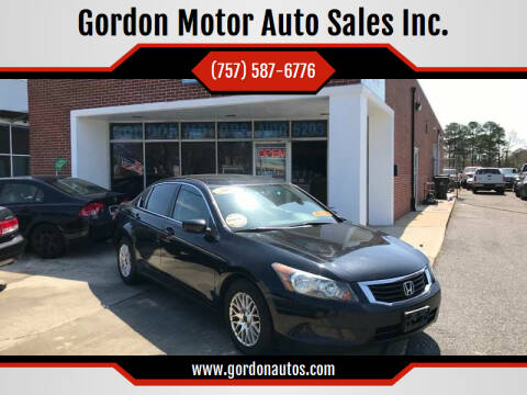 2010 Honda Accord for sale at Gordon Motor Auto Sales Inc. in Norfolk VA