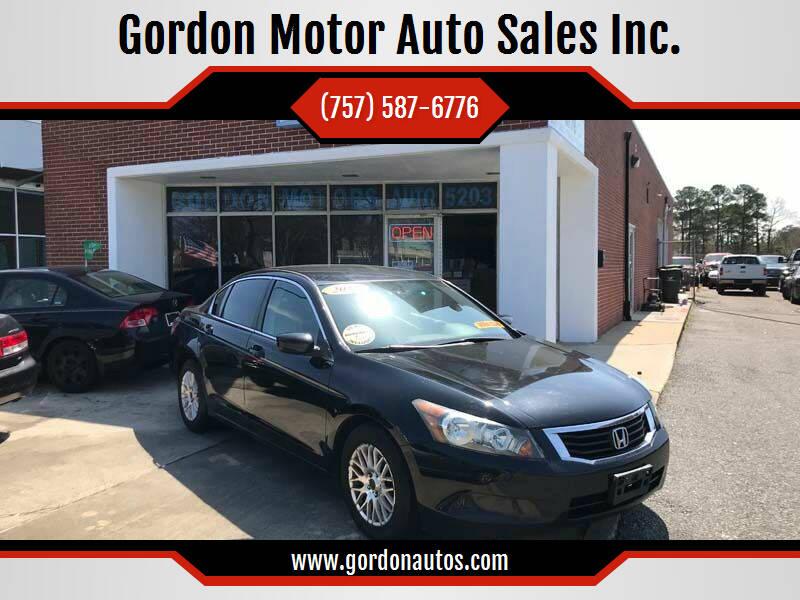 2010 Honda Accord for sale at Gordon Motor Auto Sales Inc. in Norfolk VA