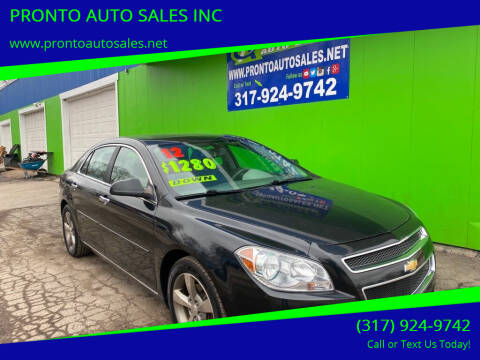 2012 Chevrolet Malibu for sale at PRONTO AUTO SALES INC in Indianapolis IN