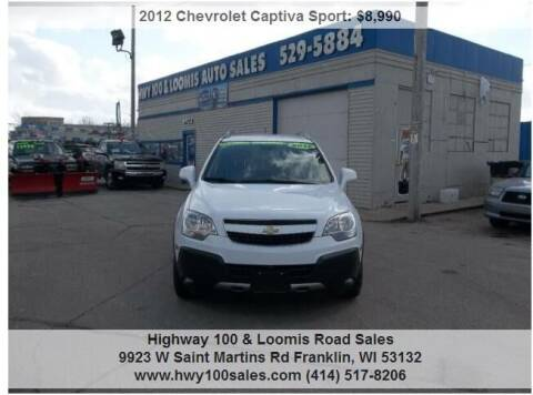 2012 Chevrolet Captiva Sport for sale at Highway 100 & Loomis Road Sales in Franklin WI
