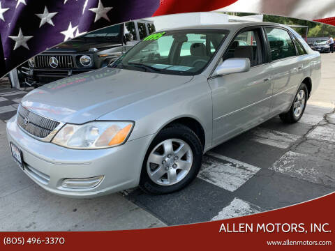 2001 Toyota Avalon for sale at Allen Motors, Inc. in Thousand Oaks CA