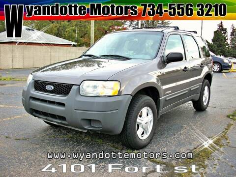 2002 Ford Escape for sale at Wyandotte Motors in Wyandotte MI