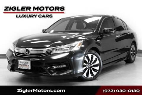 2017 Honda Accord Hybrid for sale at Zigler Motors in Addison TX