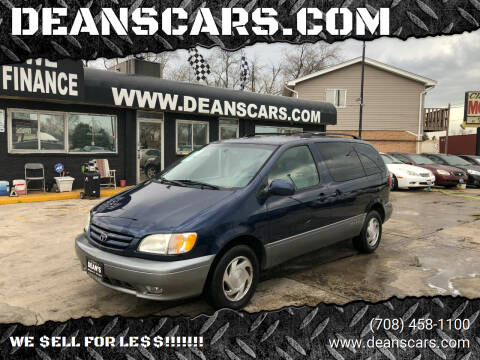 2002 Toyota Sienna for sale at DEANSCARS.COM in Bridgeview IL