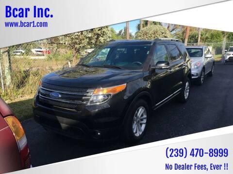 2015 Ford Explorer for sale at Bcar Inc. in Fort Myers FL