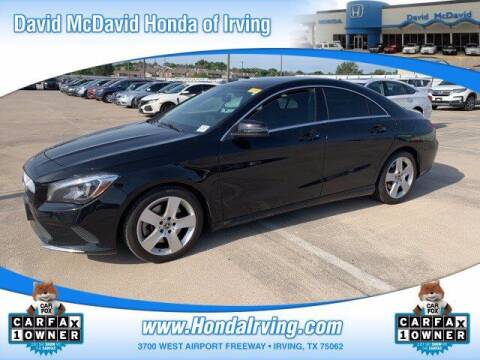 2018 Mercedes-Benz CLA for sale at DAVID McDAVID HONDA OF IRVING in Irving TX