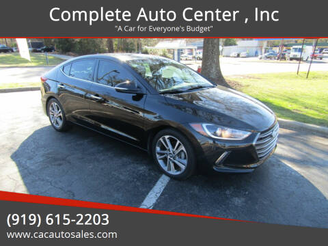 2017 Hyundai Elantra for sale at Complete Auto Center , Inc in Raleigh NC