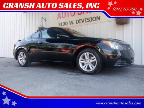 2012 Nissan Altima for sale at CRANSH AUTO SALES, INC in Arlington TX