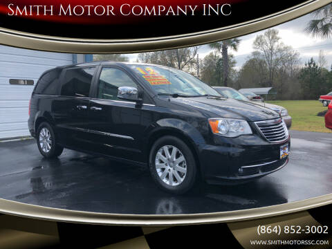 2012 Chrysler Town and Country for sale at Smith Motor Company INC in Mc Cormick SC