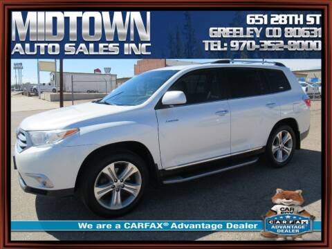 2013 Toyota Highlander for sale at MIDTOWN AUTO SALES INC in Greeley CO