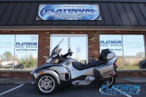 2012 Can-Am SPYDER RT-S for sale at Platinum Auto World in Fredericksburg VA