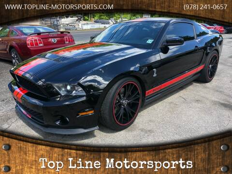 2012 Ford Shelby GT500 for sale at Top Line Motorsports in Derry NH