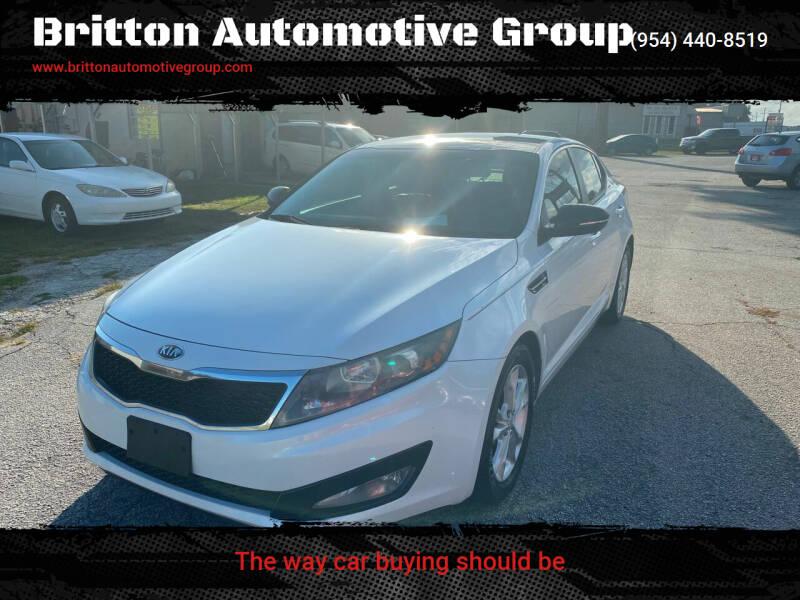2013 Kia Optima for sale at Britton Automotive Group in Loganville GA