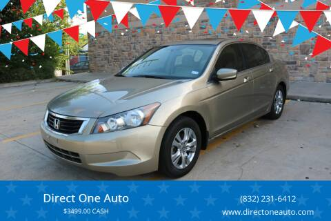2008 Honda Accord for sale at Direct One Auto in Houston TX