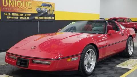1989 Chevrolet Corvette for sale at UNIQUE SPECIALTY & CLASSICS in Mankato MN