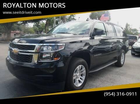 2019 Chevrolet Suburban for sale at ROYALTON MOTORS in Plantation FL