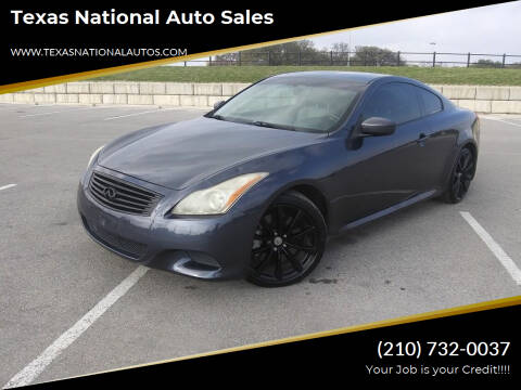 2008 Infiniti G37 for sale at Texas National Auto Sales in San Antonio TX