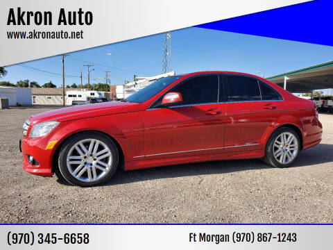 2009 Mercedes-Benz C-Class for sale at Akron Auto - Fort Morgan in Fort Morgan CO