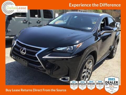 2016 Lexus NX 200t for sale at Dallas Auto Finance in Dallas TX