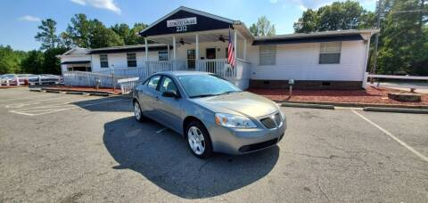 2007 Pontiac G6 for sale at CVC AUTO SALES in Durham NC
