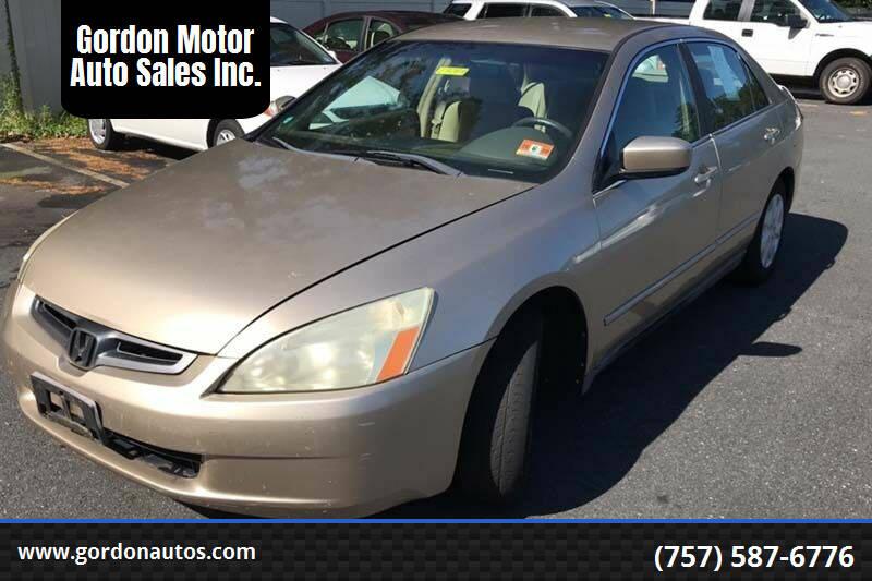 2004 Honda Accord for sale at Gordon Motor Auto Sales Inc. in Norfolk VA