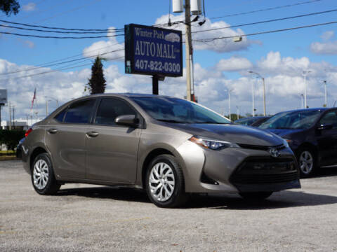 2017 Toyota Corolla for sale at Winter Park Auto Mall in Orlando FL