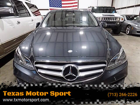 2014 Mercedes-Benz E-Class for sale at Texas Motor Sport in Houston TX