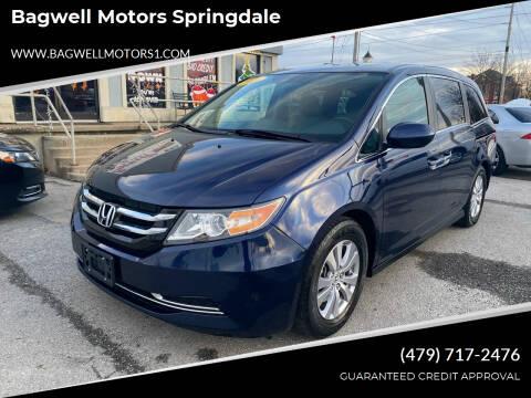 2016 Honda Odyssey for sale at Bagwell Motors Springdale in Springdale AR